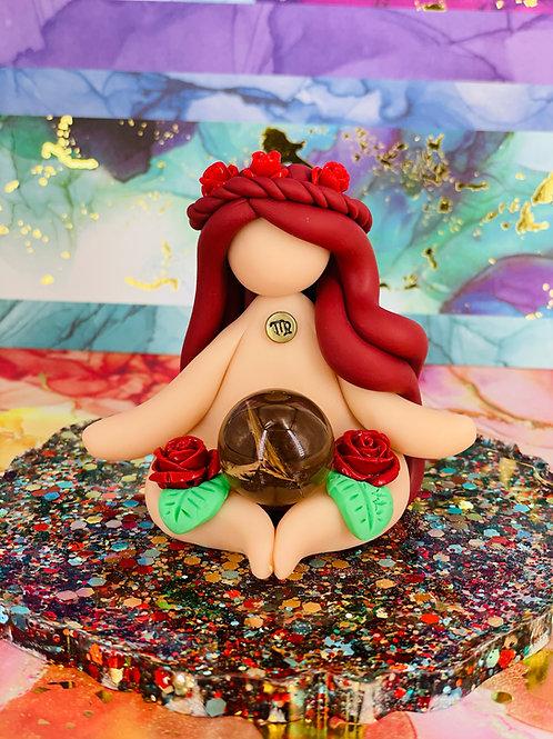 Meditating Mini Virgo Zodiac Goddess