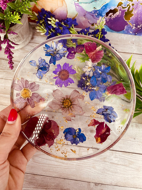 Pansy Floating Flower Coaster