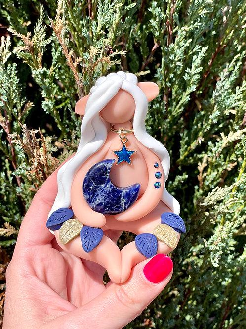 Lapis Lazuli Crystal Moon Elf