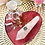 Thumbnail: Magenta Heart Plate with Rose Quartz