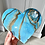 Thumbnail: Aura BlueCrystal Heart Plaque