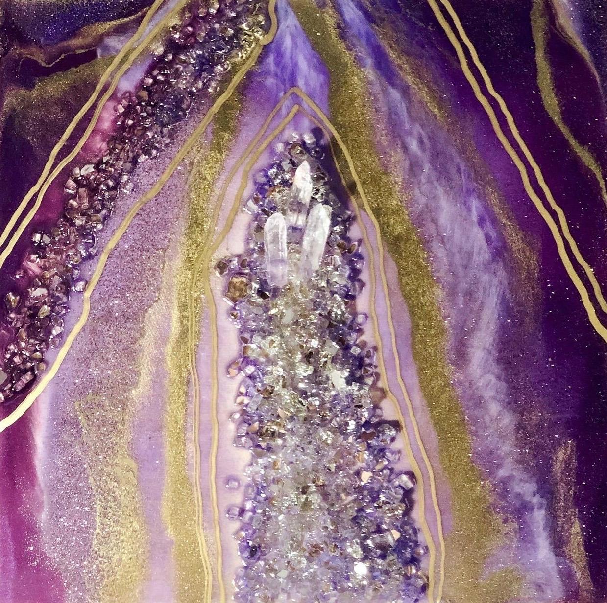 Purple Amethyst Art