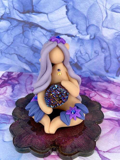 Mystical Aura Amethyst Crystal Elf
