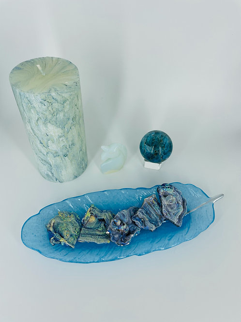 Sky Blue Selenite Feather Dish