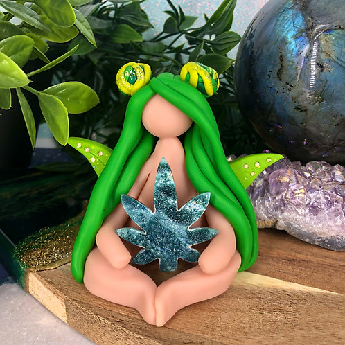 Emerald Cannabis Crystal Fairy
