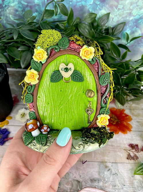 Earthy Emerald Green Fairy Door