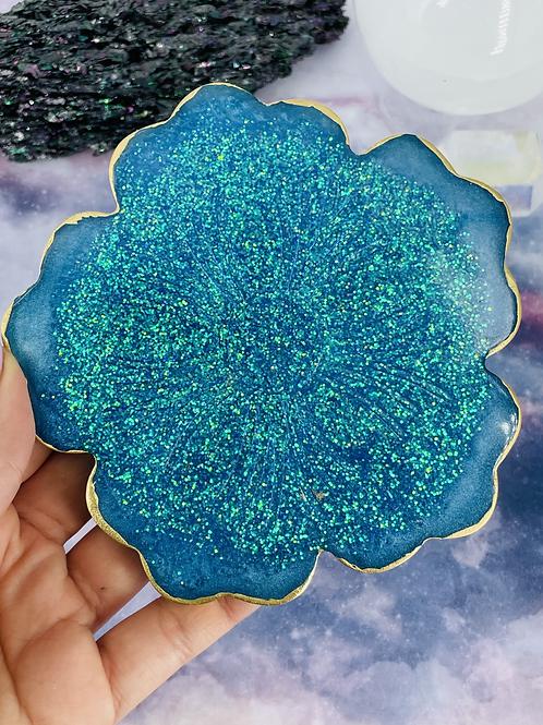 Blue Aura Goddess Coaster
