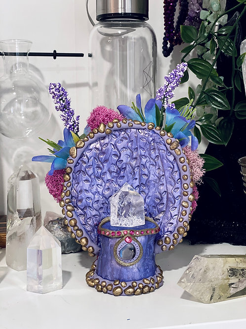 Lavender Labradorite Crystal Throne