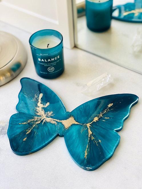 Sapphire Blue Butterfly Coaster