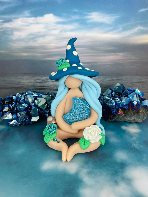 Ocean Crescent Moon Mushroom Witch