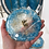 Thumbnail: Sky Blue Ocean Coaster Set with Blue Apatite Crystals