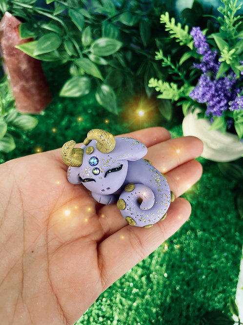 Lilly Lilac Sleeping Crystal Dragon