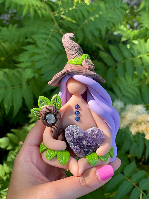 Deep Hallow Woods Amethyst Witch