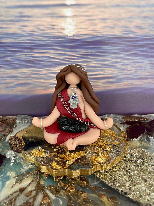 Meditating Black Tourmaline Gypsy Goddess