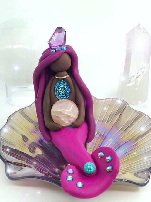 Rose Quartz Crystal Mermaid