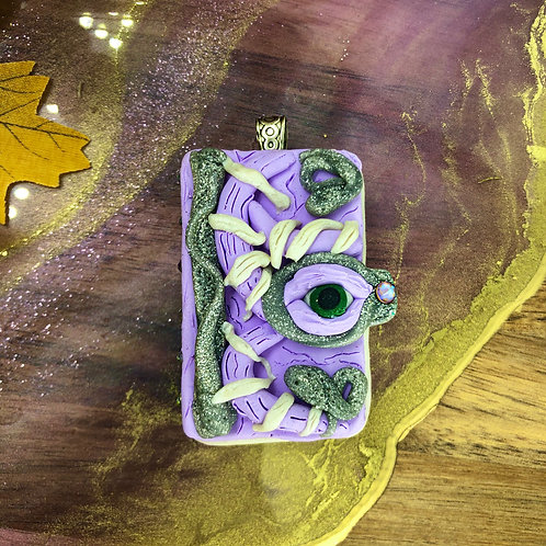 Purple Book Pendant - Hocus Pocus