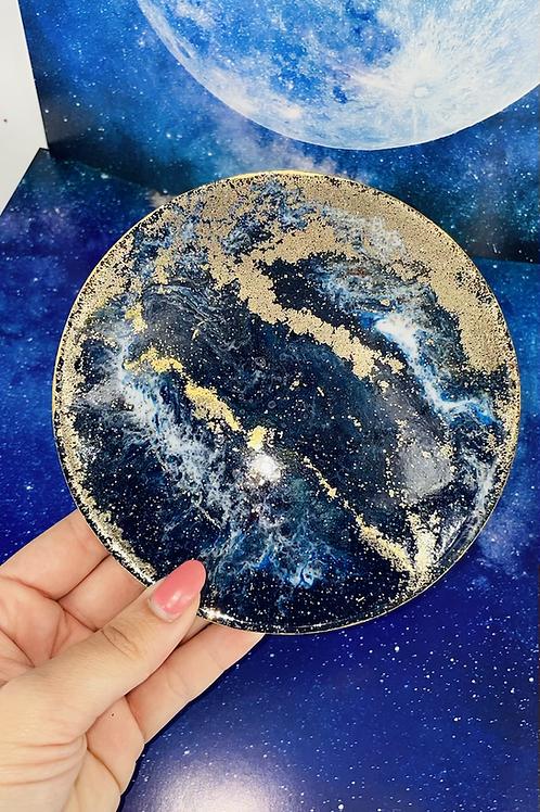 Deep Blue Moon Goddess Coaster