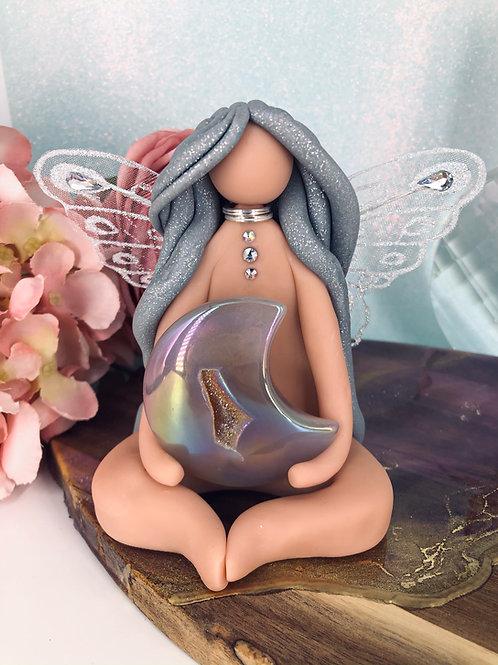 Aura Quartz Crescent Moon Fairy