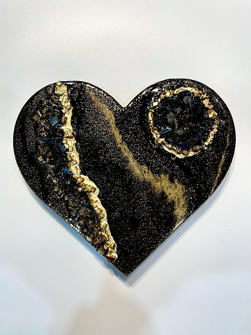Champagne Sparkles Crystal Heart Plaque
