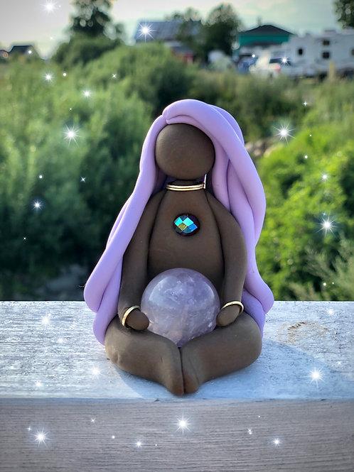 Amethyst Sphere Goddess