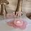 Thumbnail: Sparkling Rose Quartz Lotus Flower Candle Holder