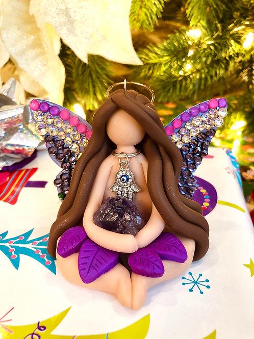 Evil Eye Fairy Amethyst Ornament