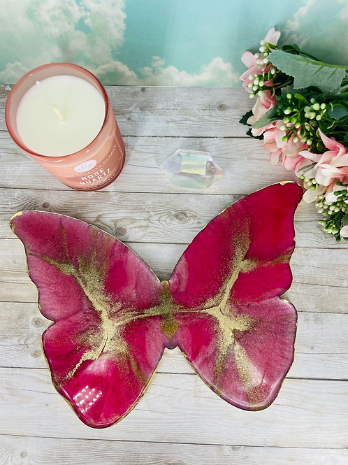 Rose Gold Butterfly Coaster