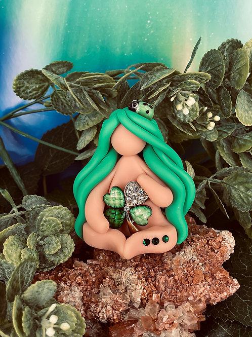 Four Leaf Clover Mini Goddess of Fortune