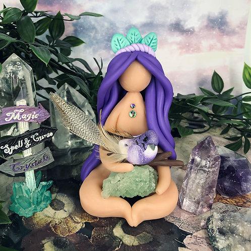 Violet Starling Fluorite Goddess