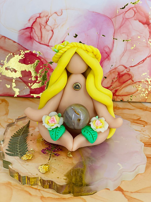 Meditating Mini Libra Zodiac Goddess
