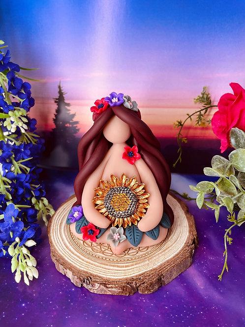 Sparkling Sunflower Crystal Goddess