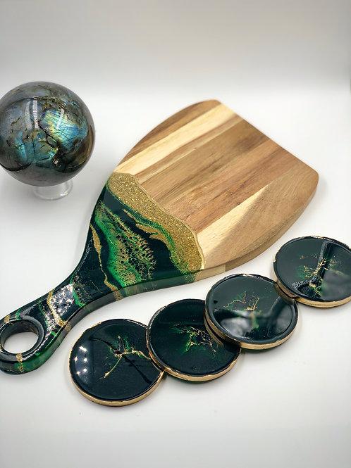 Tinker Bell Jade Crystal Coaster Set
