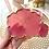 Thumbnail: Magenta Blooming Coaster Set with Rose Quartz Crystals