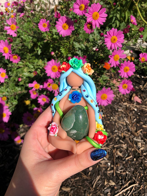 Green Aventurine Flower Goddess