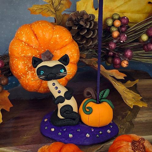 Siamese Pumpkin Inscence Holder
