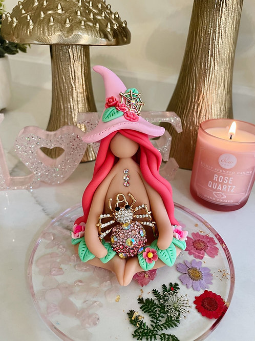 Crystal Rose Spider Witch