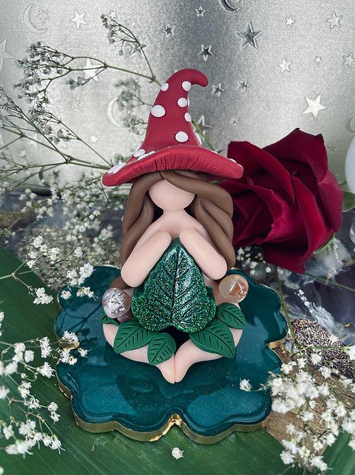 Flower Agate Crystal Mushroom Witch