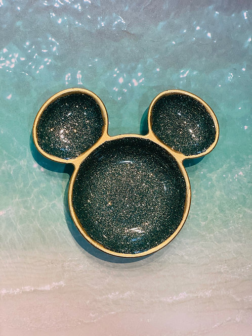 Sparkling Emerald Mickey Mouse Trinket Tray