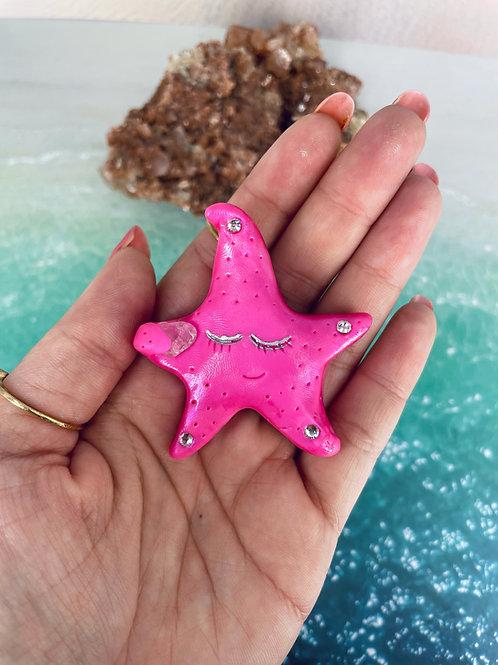 Pink Rose Quartz Baby Star
