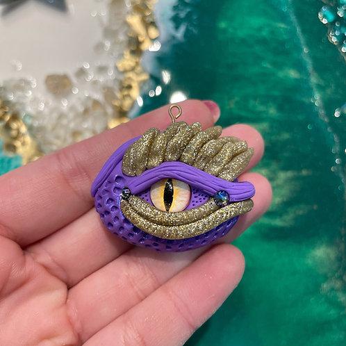 Orchid Crystal Dragon Eye Charm