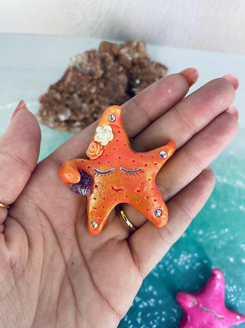 Orange Amethyst Baby Star