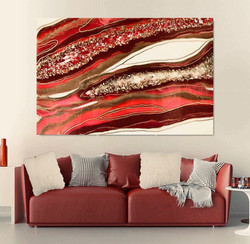 Red Crystal Art piece