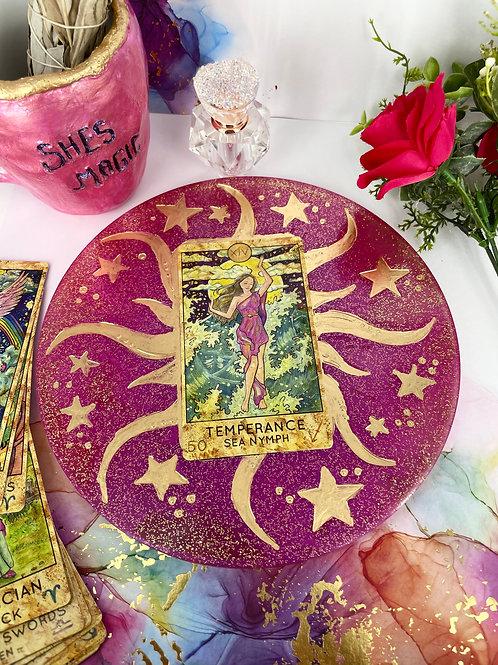 Rose Quarts Tarot Tray