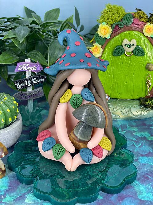 Jasper Crystal Mushroom Witch