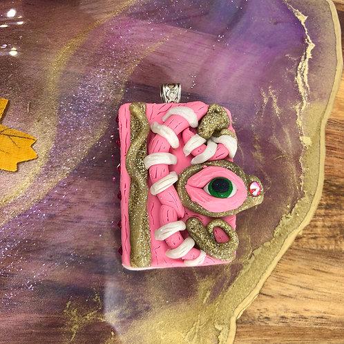 Pink Book Pendant - Hocus Pocus