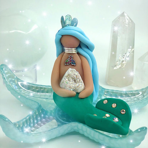 Aura Quartz Crystal Mermaid