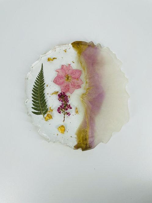 Natural Flower Pink Sheen Goddess Coaster