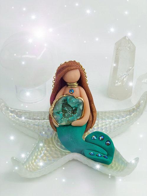 Ocean Jasper Crystal Mermaid