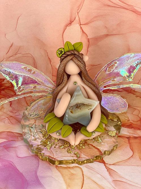 Druzy Agate Star Fairy Elf