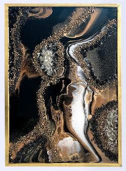 Black Tourmaline Crystal Art piece by Gigi_manuela